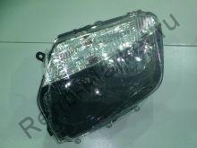 Фара передняя левая (черная маска) Duster DEPO 551-1186L-LD-EM2 аналог 260609877R
