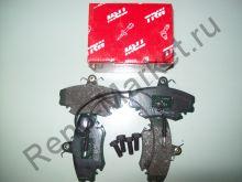 Тормозные колодки передние (Logan) TRW GDB400  аналог 7701208265, 7701207066, 6001547911, 6001547619